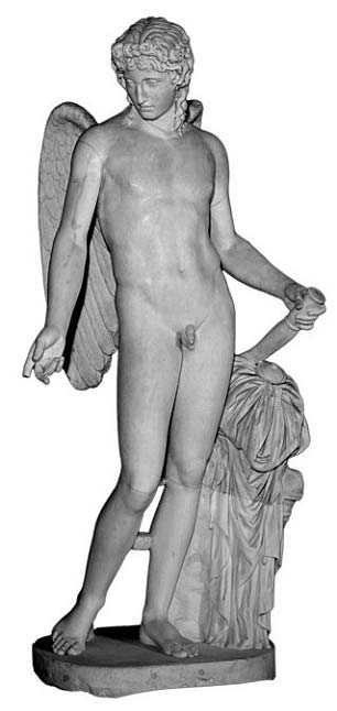 The Eros Farnese, a Pompeiian marble.