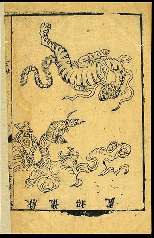1593 etching of Daoyin exercises; The Intercourse of Dragon and Tiger.