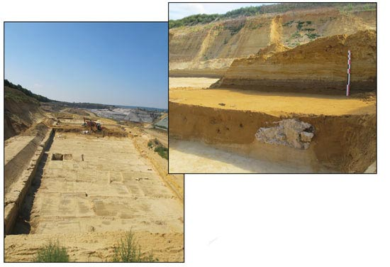 General view of the site during excavation of Tourville-la-Rivière