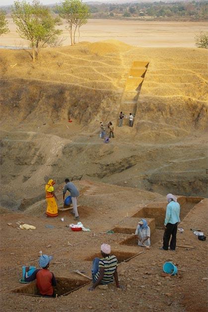 The excavation site. Credit: Christina Nuedorf