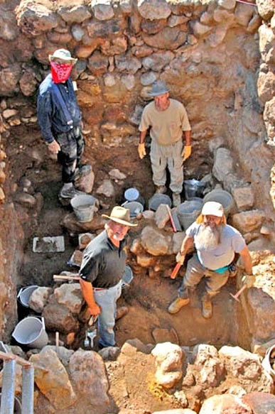 "About four meters below the modern surface of Tall el-Hammam, excavators encountered a house from the middle of the Bronze Age that is located in a ""layer of destruction."""