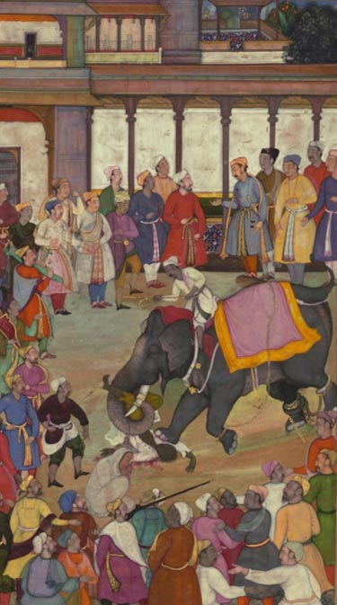 A Mughal depiction of an execution by elephant.