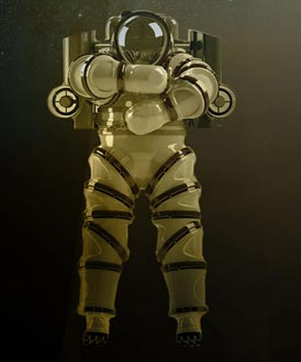 The newly designed exosuit