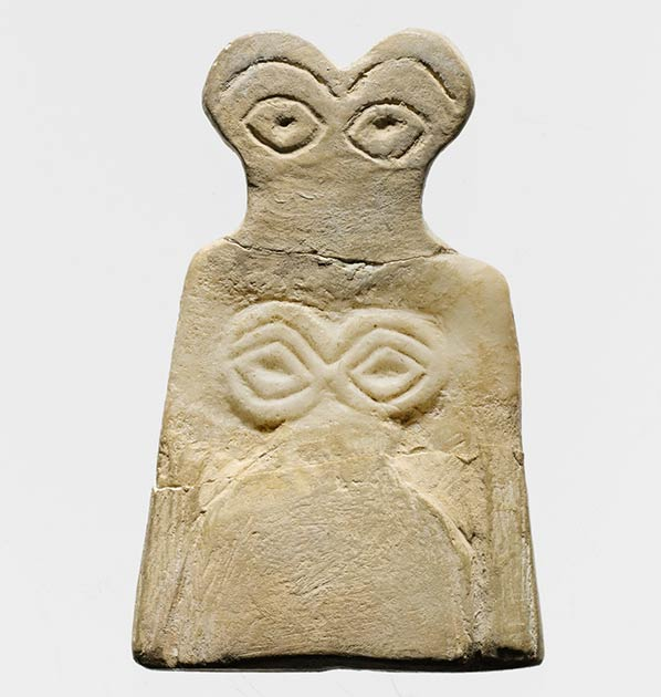 One of the so-called eye-idols found at Göbekli Tepe . (Metropolitan Museum of Art / CC0)