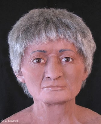 A facial reconstruction of the mummy