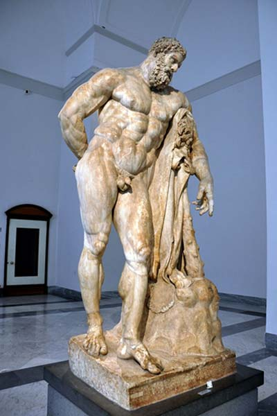 One of the most famous depictions of Heracles, originally by Lysippos.