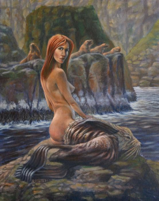 Painting of a female Selkie.