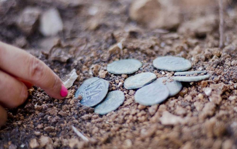 The Byzantine coins found near Jerusalem have been dated to around the time of a 614 siege.