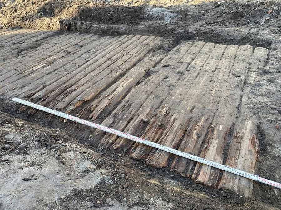 Well-preserved, Ancient Wooden Road Discovered Beneath Old Polish Town