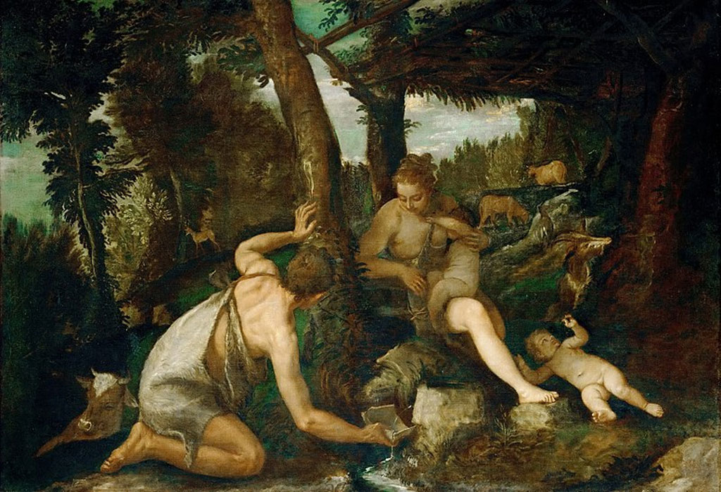 Adam and Eve after the Expulsion from Paradise by Paolo Veronese  (1528–1588) (Public Domain)