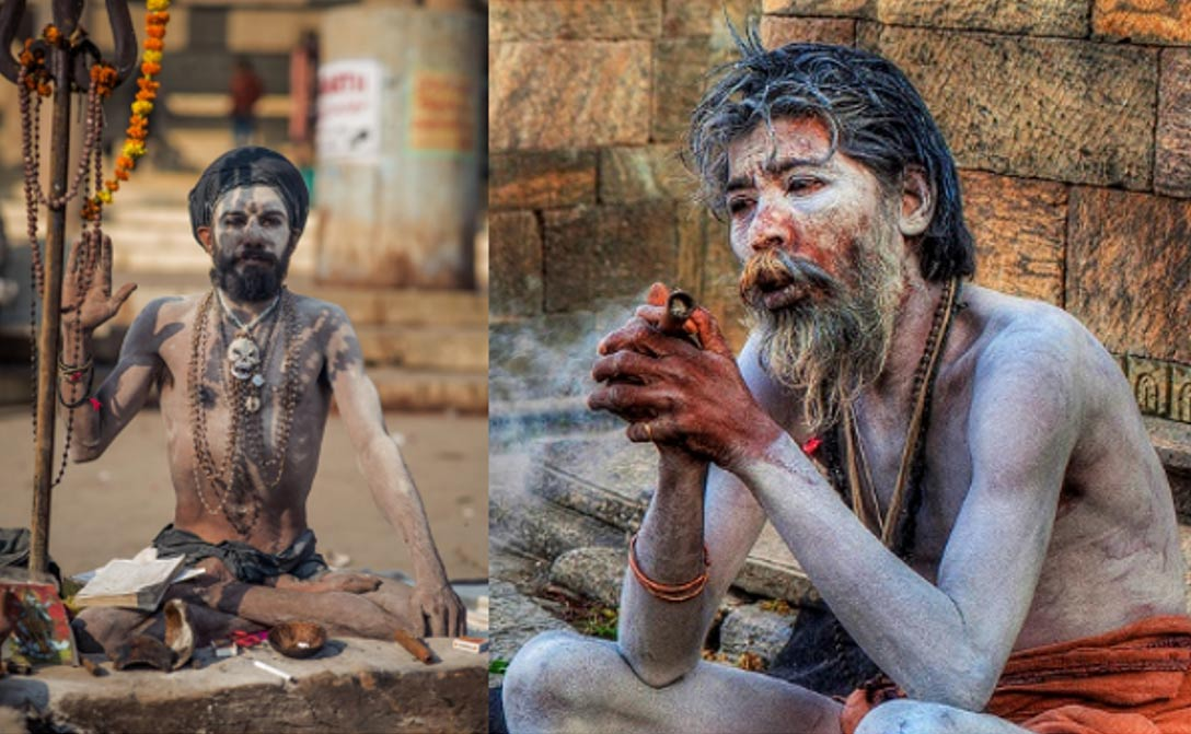 Two images of Aghori.