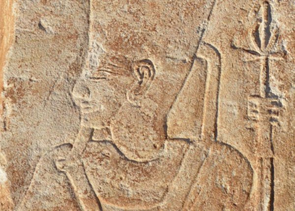 Egyptian carving of Akhenaten