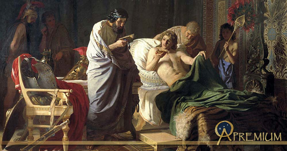 Alexander the Great trust to physician Phillip by Henryk Siemiradzky (1870)
