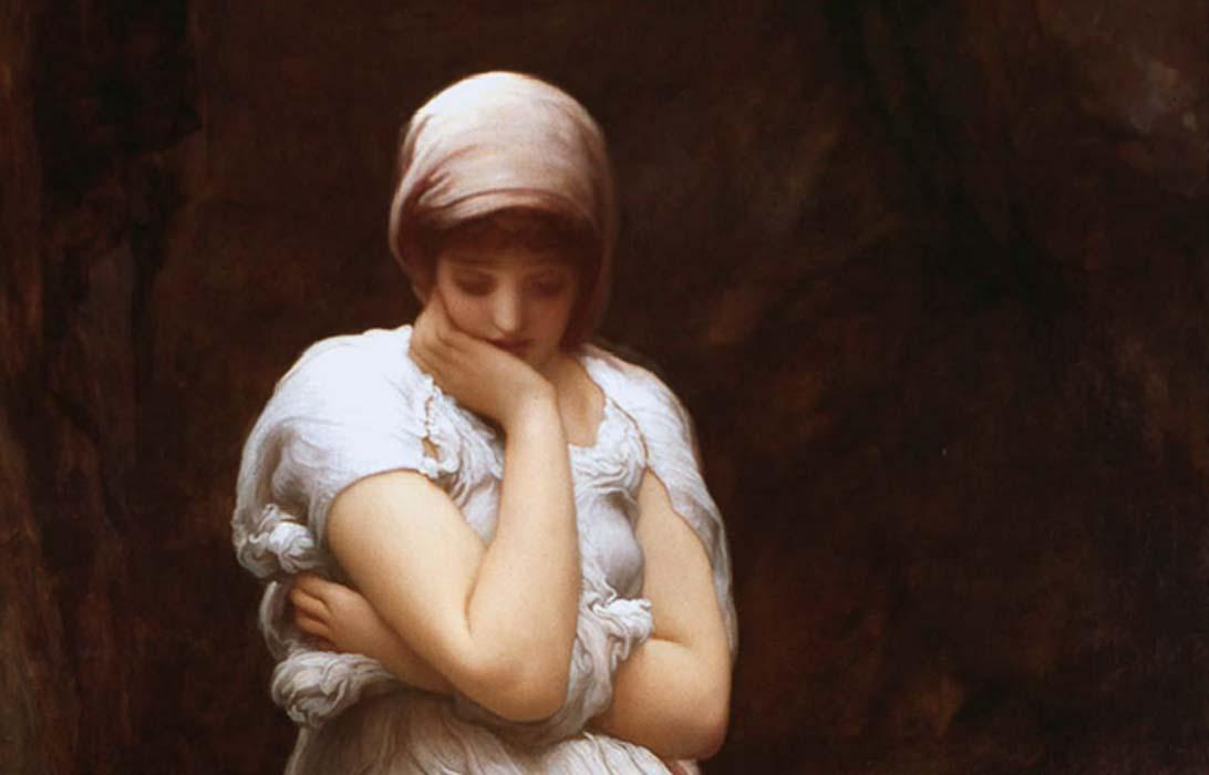 Detail of 'Solitude' (circa 1890) by Frederic Leighton, 1st Baron Leighton.