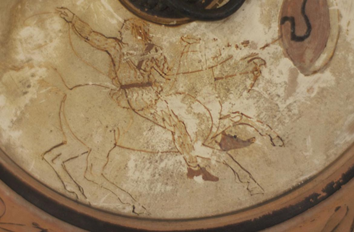 The 2500-year-old vase with Amazon woman depiction.