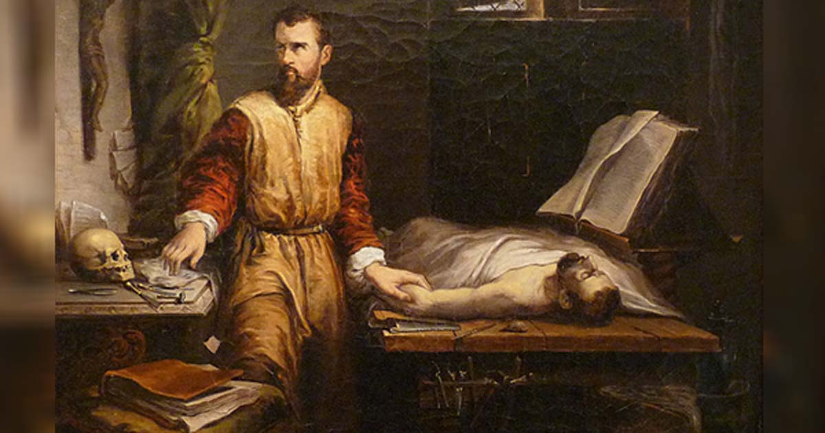 'Ambroise Paré and the examination of a patient' by James Bertrand.
