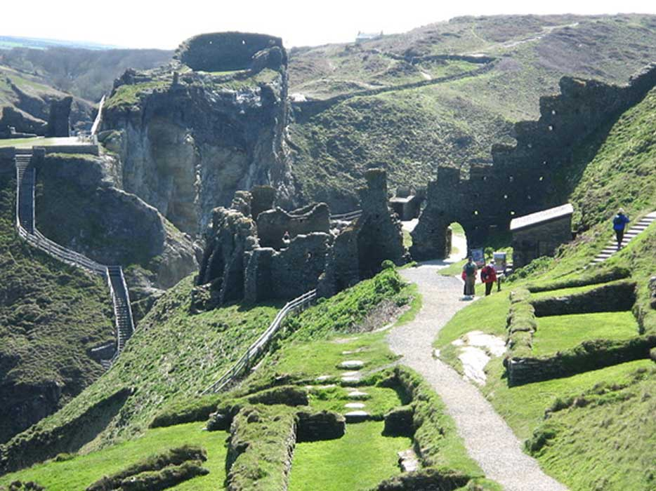 Tintagel Castle.