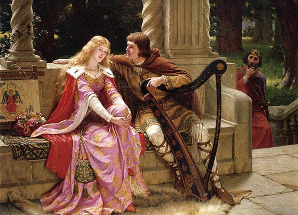 'The End of the Song' – a depiction of the lovers Tristan and Isolde.