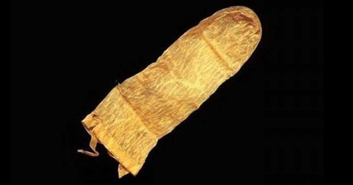 A 17th century condom from Sweden.