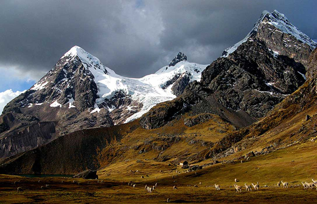 Hillside of Peruvian Ausangate mountain