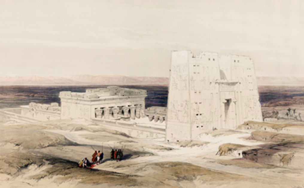 Temple of Edfu illustration by artist David Roberts.