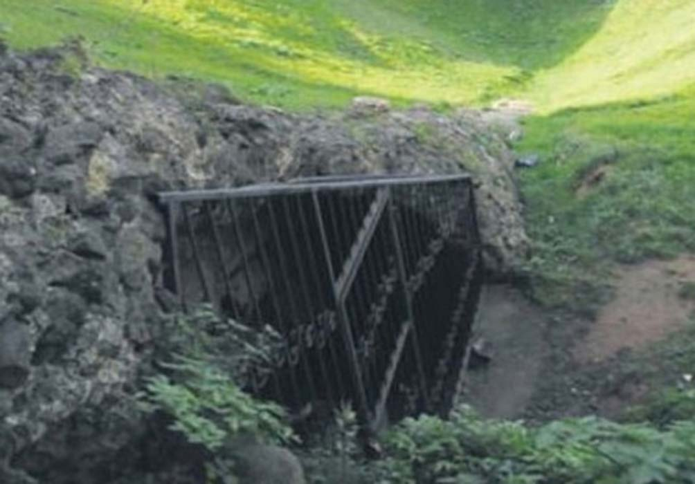 The area where the ancient underground city was discovered in Turkey's Trabzon province represented here.
