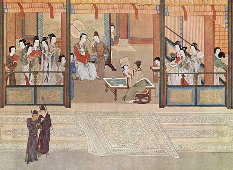 Detail of 'Spring Morning in the Han Palace' (17th century) by Qiu Ying