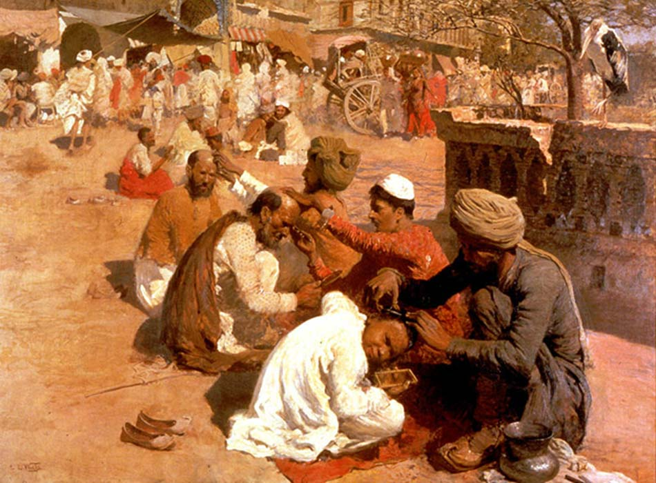 'Indian Barbers Saharanpore' by Edwin Lord Weeks. Scientists have recently found just how diverse both Indian and Jewish genes really are.
