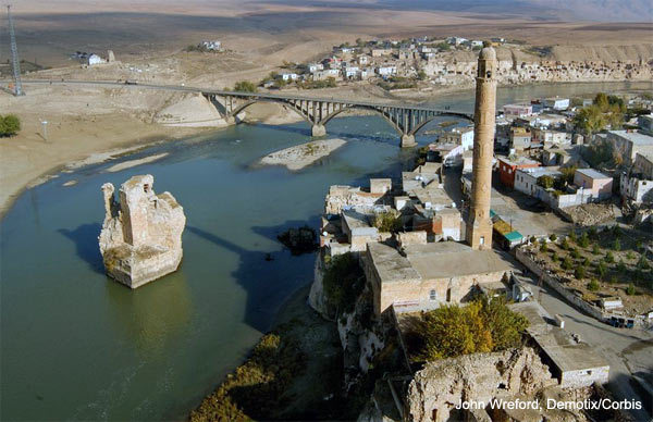 Ancient monuments in Hasankeyf