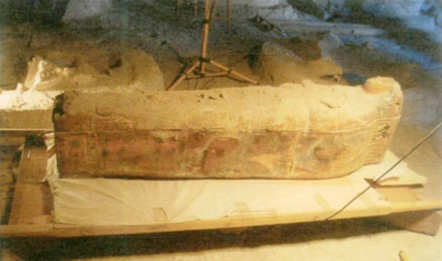 Ancient sarcophagus belonging to singer of god Amun - Luxor