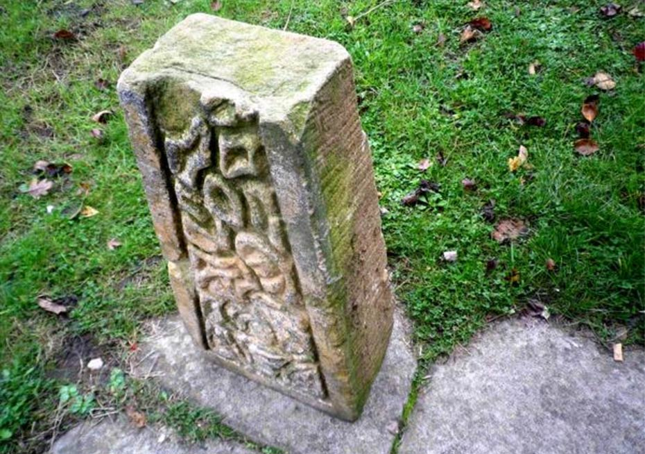 Ancient stone with strange carvings possibly anglo saxon