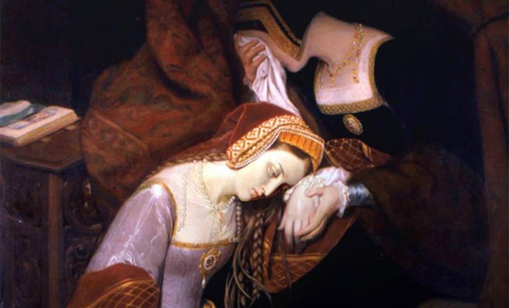 'Anne Boleyn in the Tower' by Édouard Cibot. (Public Domain)