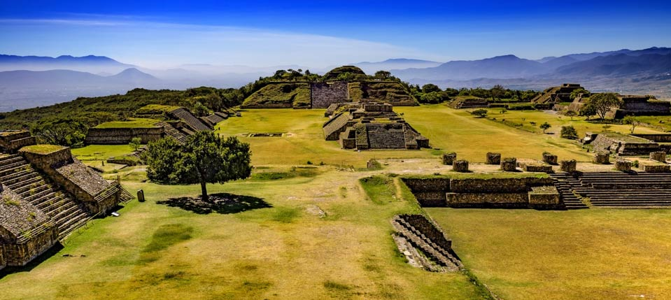 Archaeological Site of Monte Alban - general view from the North Platform