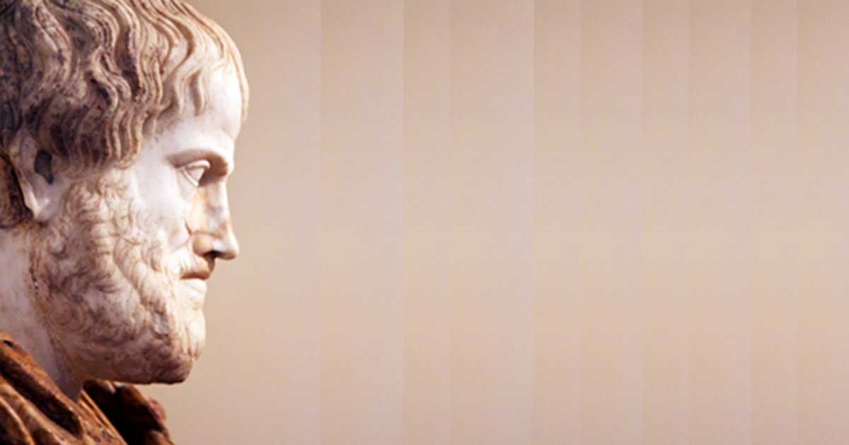 2nd century AD copy of a 4th cent. BC sculpture of Aristotle, which Alexander the Great commissioned from the sculptor Lysippus.