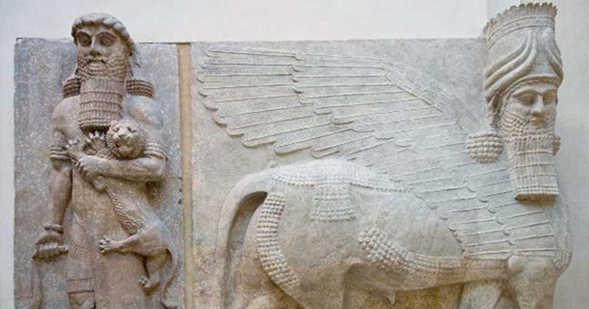 The ascension of gilgamesh did the epic hero actually exist louvre museum department of near eastern antiquities gilgamesh and lion human headed winged publicscrutiny Choice Image