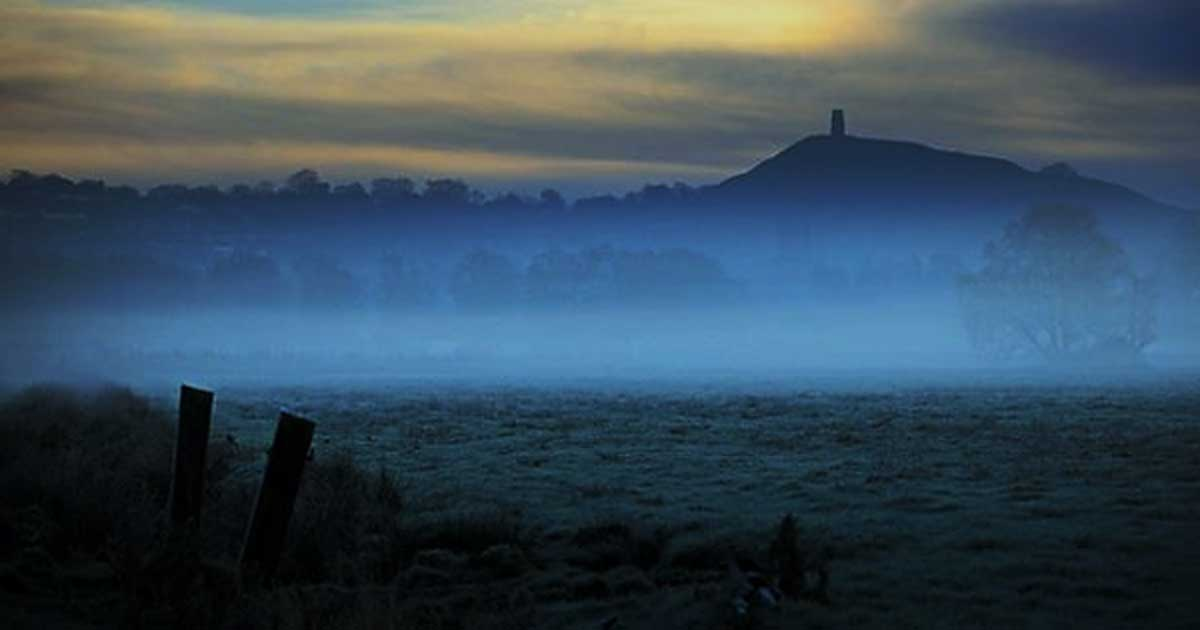 Glastonbury tor, a location that has often been associated with Avalon.