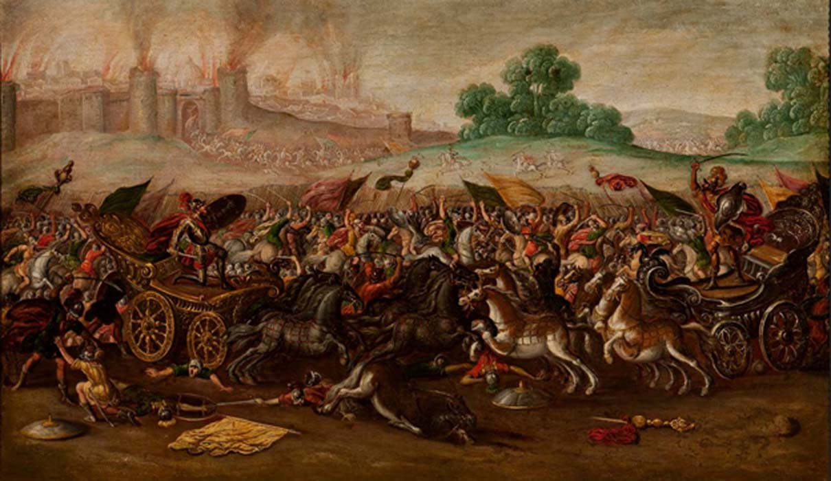 The Burning of Jerusalem by Nebuchadnezzar's Army by Circle of Juan de la Corte (1580 - 1663)