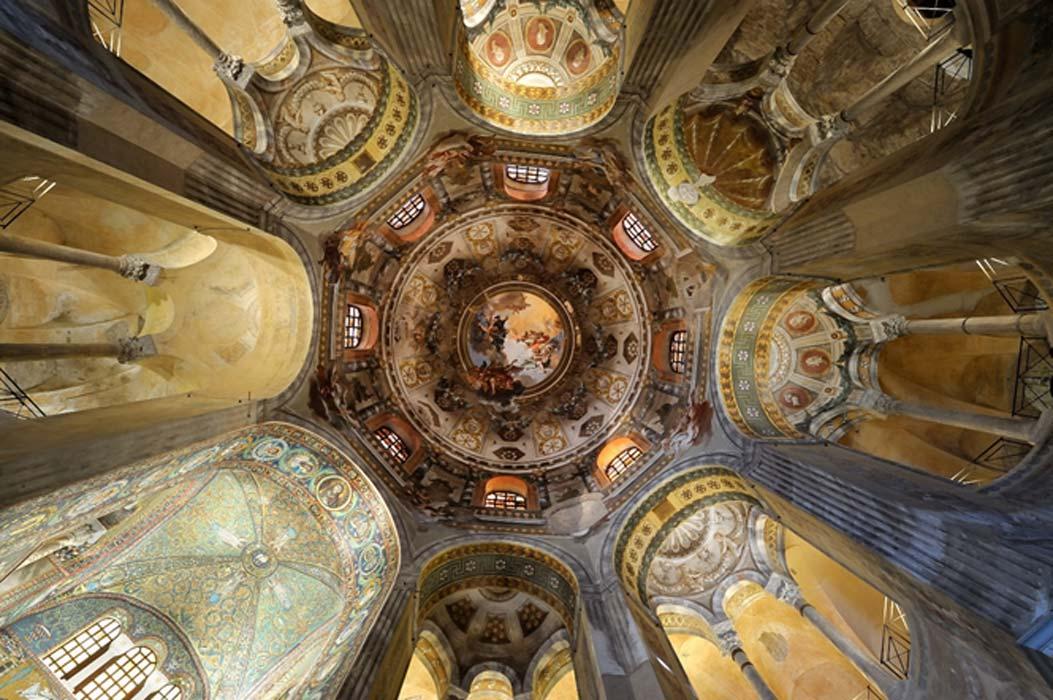 Cupula of the basilica San Vitale in Ravenna, Italy.