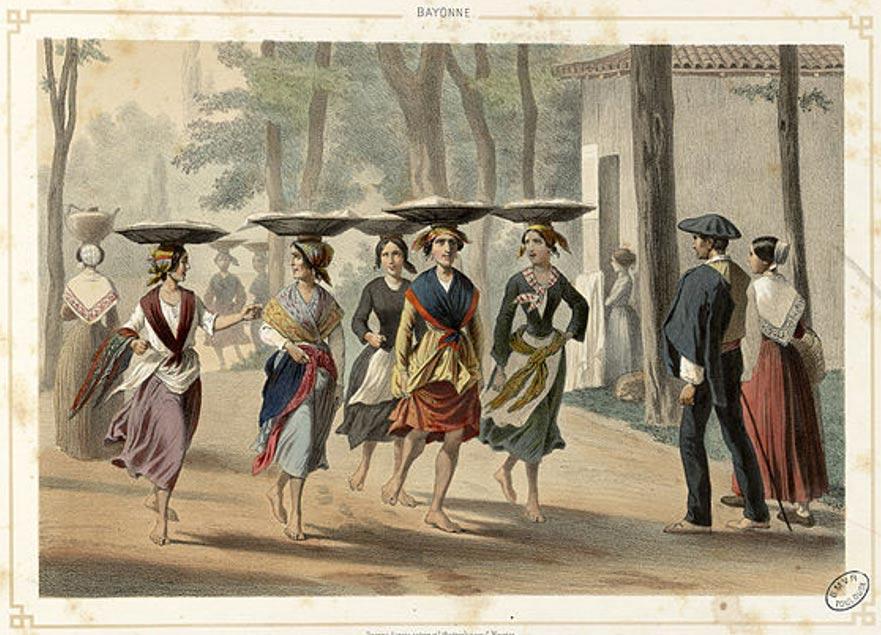 Basque women in Bayonne (1852)