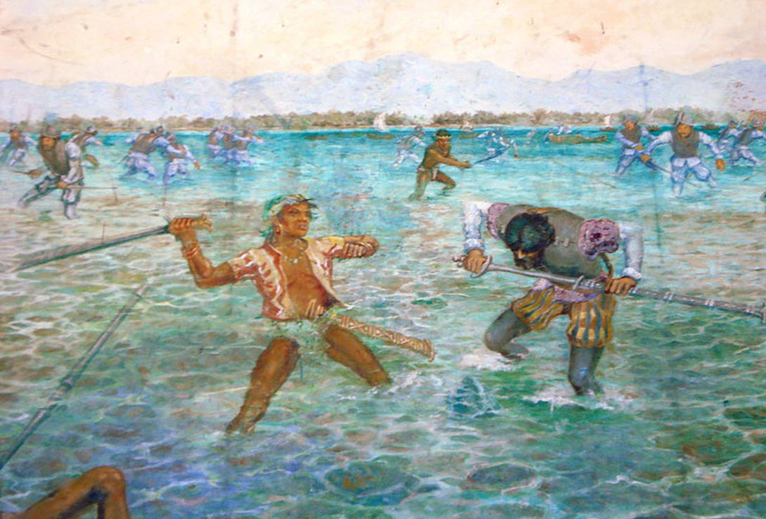 A depiction of the Battle of Mactan