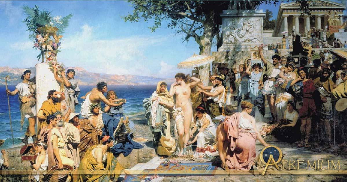 Fry in Eleusis, painting by Henryk Siemiradzki (1889).