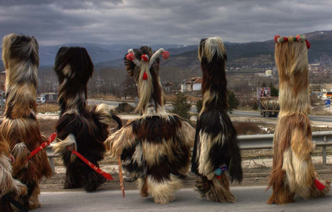 Kukeri is a type of wild man in Bulgaria. Rituals with this 'beast' are believed to scare away evil spirits.