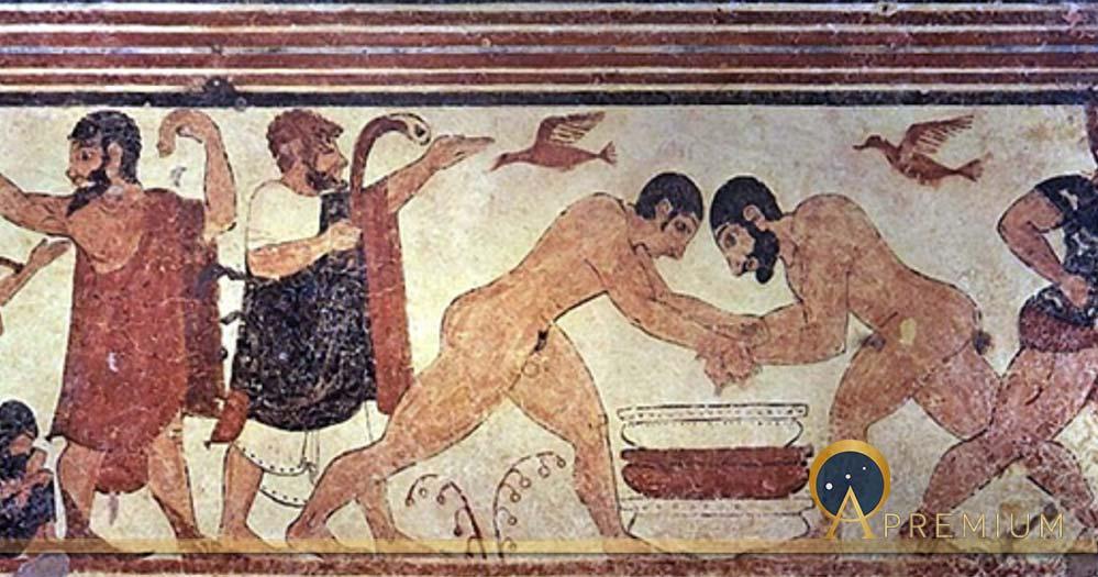 Tomb of the augurs. Tarquinia, Italia. (circa 530 BC) (Public Domain)