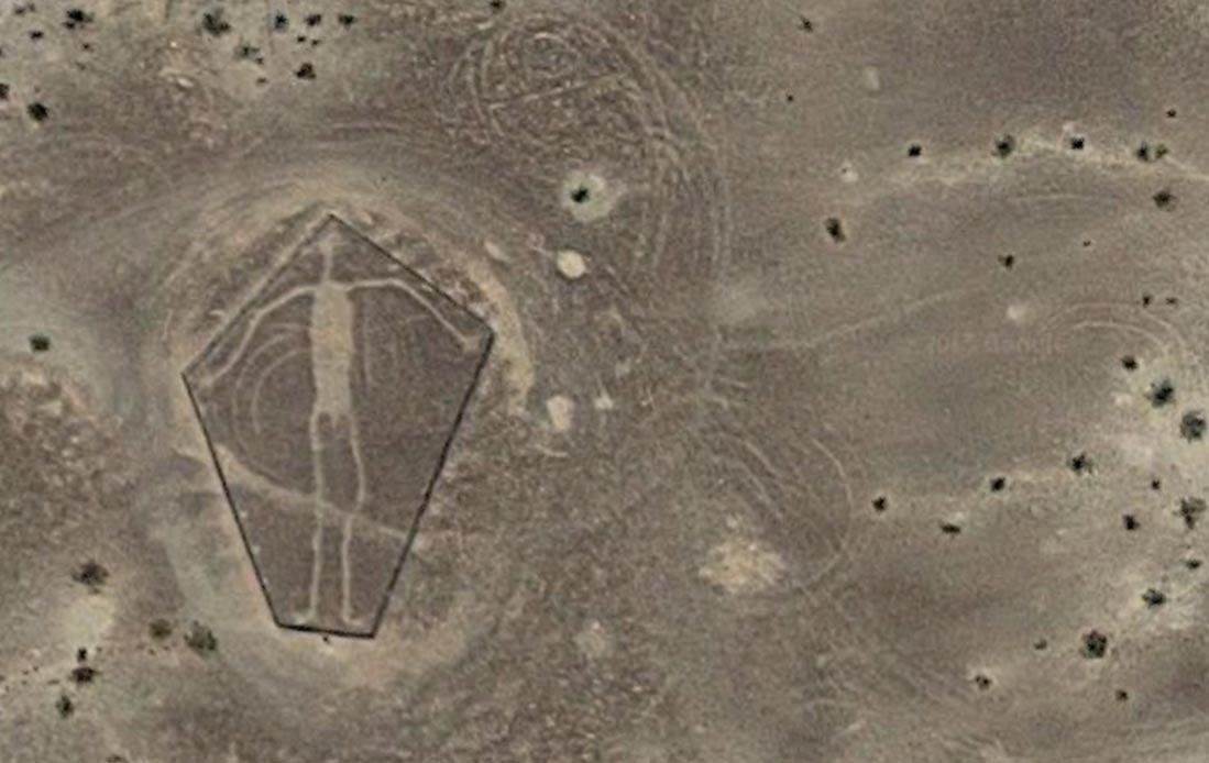 A Blythe Intaglio in the Colorado Desert.