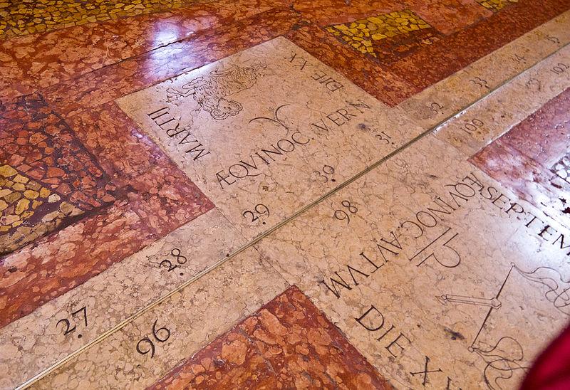 Bologna, San Petronio: Meridian of Giandomenico Cassini