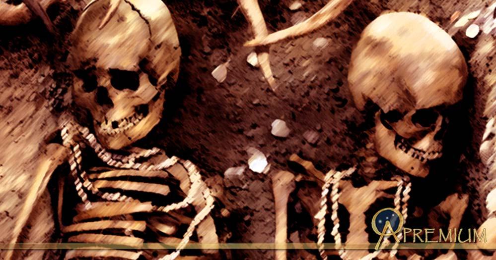 Reconstitution of a prehistoric burial. Representative image.