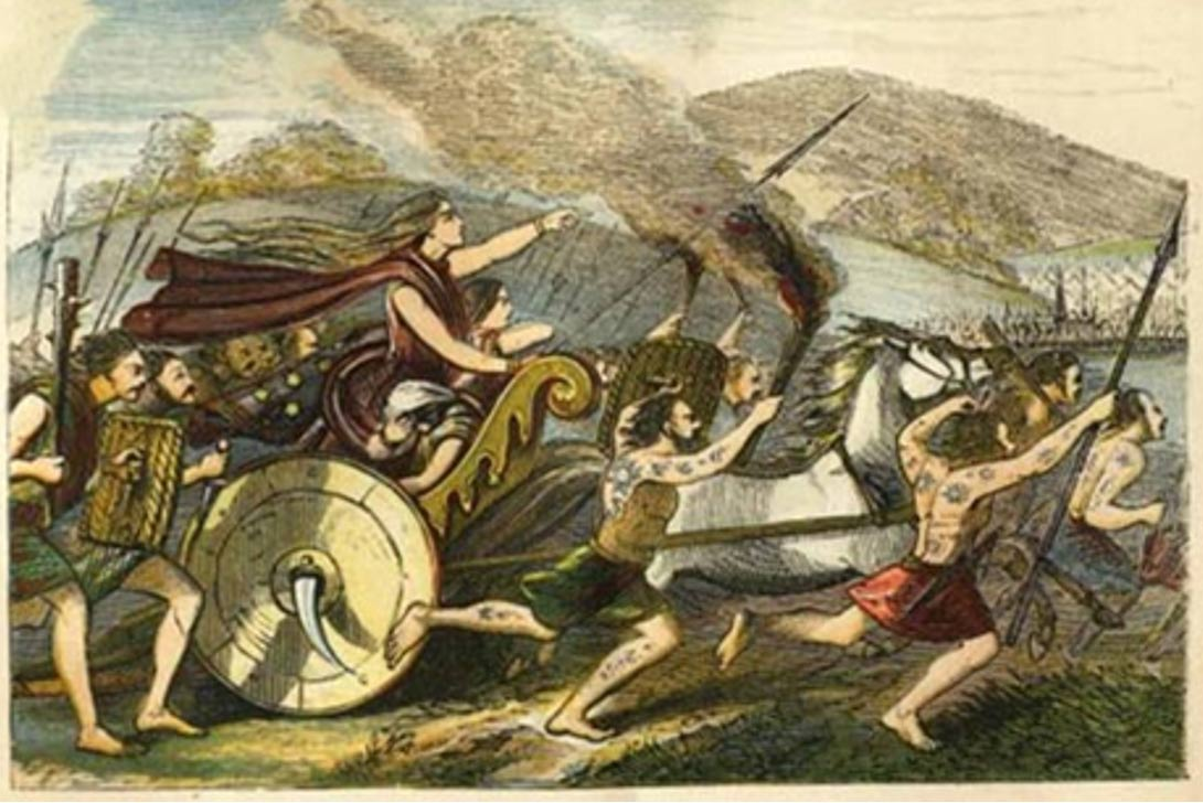 Boudicca led her people in a revolt against the Romans in Camulodunum, Londinium, and Verulamium.