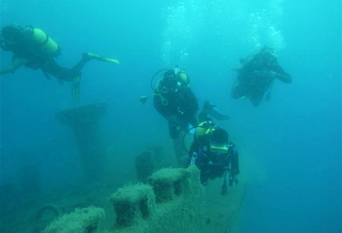 Divers and marine archaeologists used high-resolution sonar systems to survey the ancient sea route and associated features.