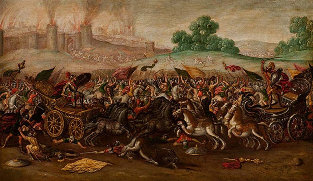 The Burning of Jerusalem by Nebuchadnezzar's Army (1630-1660)