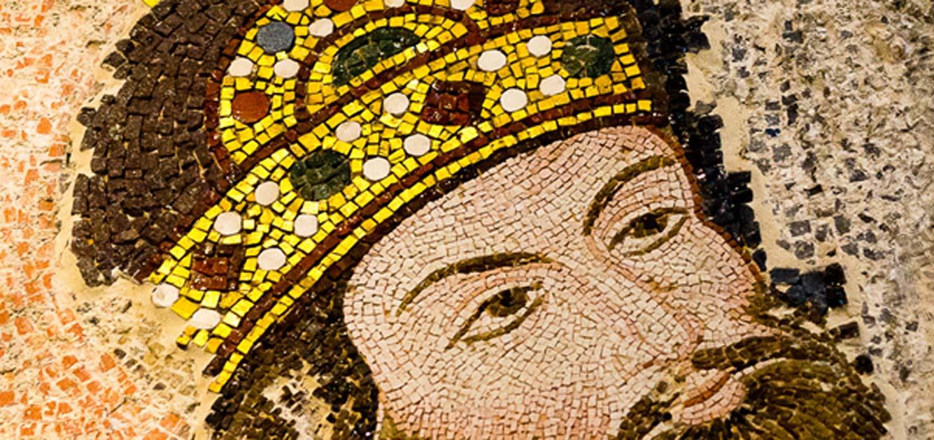 Mosaic of the Byzantine Emperor Isaac I Komnenos